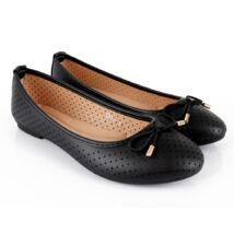 Lyukacsos masnis balerina cipő