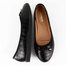 Kígyóbőr masnis balerina cipő