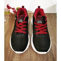 Könnyű textil fekete/piros sportcipő