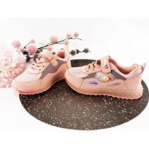 Könnyű púderrózsaszín villogó lányka sportcipő
