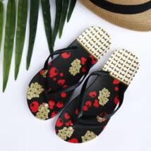 Masnival díszített női lábujjas papucs