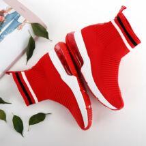 Magasszárú női belebújós zoknicipő légpárnás talppal