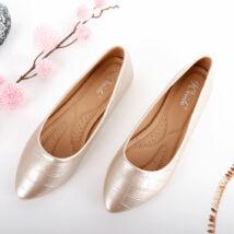 Krokodilbőr mintás női balerina cipő