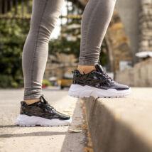 Flitteres/hologramos női sportcipő