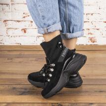 Női belebújós bakancs-zoknicipő hatású