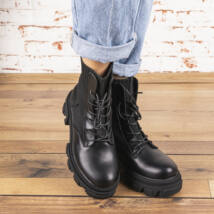 Női fűzős bakancs-zoknicipő hatású