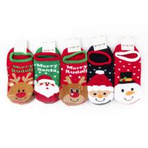 Női téli bokazokni csomag (5pár)-karácsonyi mintákkal