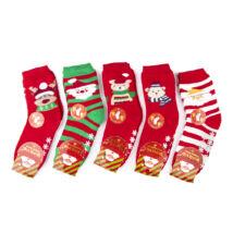 Gyermek téli zokni csomag (5pár)-karácsonyi mintákkal