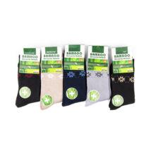 Női téli, hosszú szárú zokni csomag (5pár)-csillag mintás