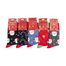 Férfi téli zokni csomag (5pár)-karácsonyi mintákkal
