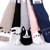Női téli, hosszú szárú zokni csomag (5db)-kiskedvences