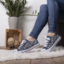 Mintás vászon női tornacipő