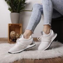 Női sneaker sportcipő fémes díszítéssel-csillámló
