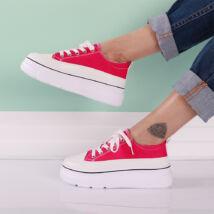 Női platform vászon sportcipő