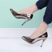 Alkalmi tükör fényes tűsarkú női cipő