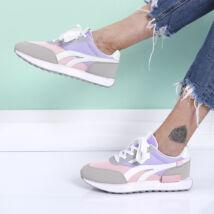 Női rózsaszín sportcipő magas talppal