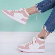 Női rózsaszín magasított szárú sportcipő