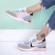 Női rózsaszín sportcipő