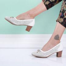 Női fehér belebújós cipő masnival