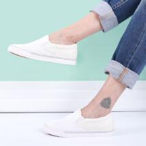 Belebújós csillámló női cipő