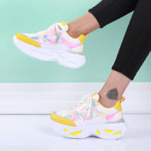 Hologramos, platformos női sportcipő