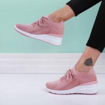 Női rózsaszín fűzős zoknicipő