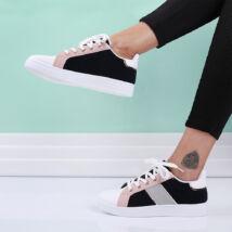 Női sötétkék-fehér sportcipő