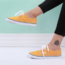 Női sárga vászon tornacipő
