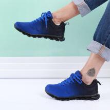 Női kék-fekete sportcipő