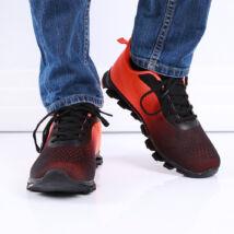 Férfi narancssárga-fekete sportcipő