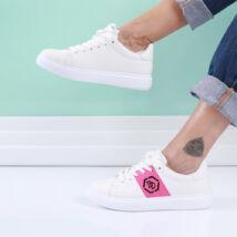 Női fehér-rózsaszín sportcipő