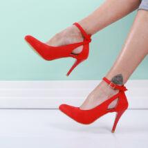 Női piros alkalmi cipő