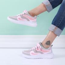 Női világosszürke-rózsaszín sportcipő