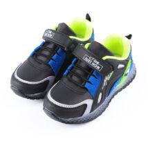 Kisfiú fekete-zöld sportcipő tépőzárral