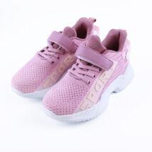Lány rózsaszín sportcipő tépőzárral
