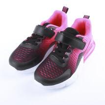 Lány rózsaszín sportcipő tépőzárral, gumis sarokkal