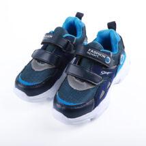 Fiú kék sportcipő dupla tépőzárral