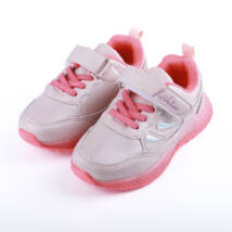 Lányka rózsaszín sportcipő tépőzárral, világítós talppal