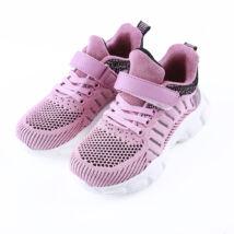Lány lila tépőzáras sportcipő