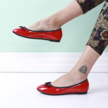 Női piros lakk balerina cipő
