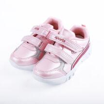 Lány rózsaszín sportcipő dupla tépőzárral