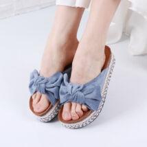 Női kék masnis papucs