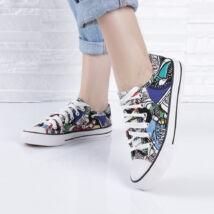 Mintás női tornacipő