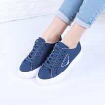 Női kék vászon sportcipő