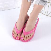 Lábujjas női fukszia gumi papucs