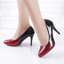 Ombre színezésű magassarkú borvörös női alkalmi cipő