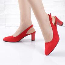 Bokapántos női piros alkalmi szandál