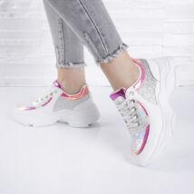 Flitteres/csillámló/hologramos női sportcipő