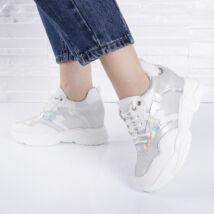 Hologramos-csillámló női sportcipő