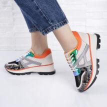 Kígyóbőr mintás női utcai cipő